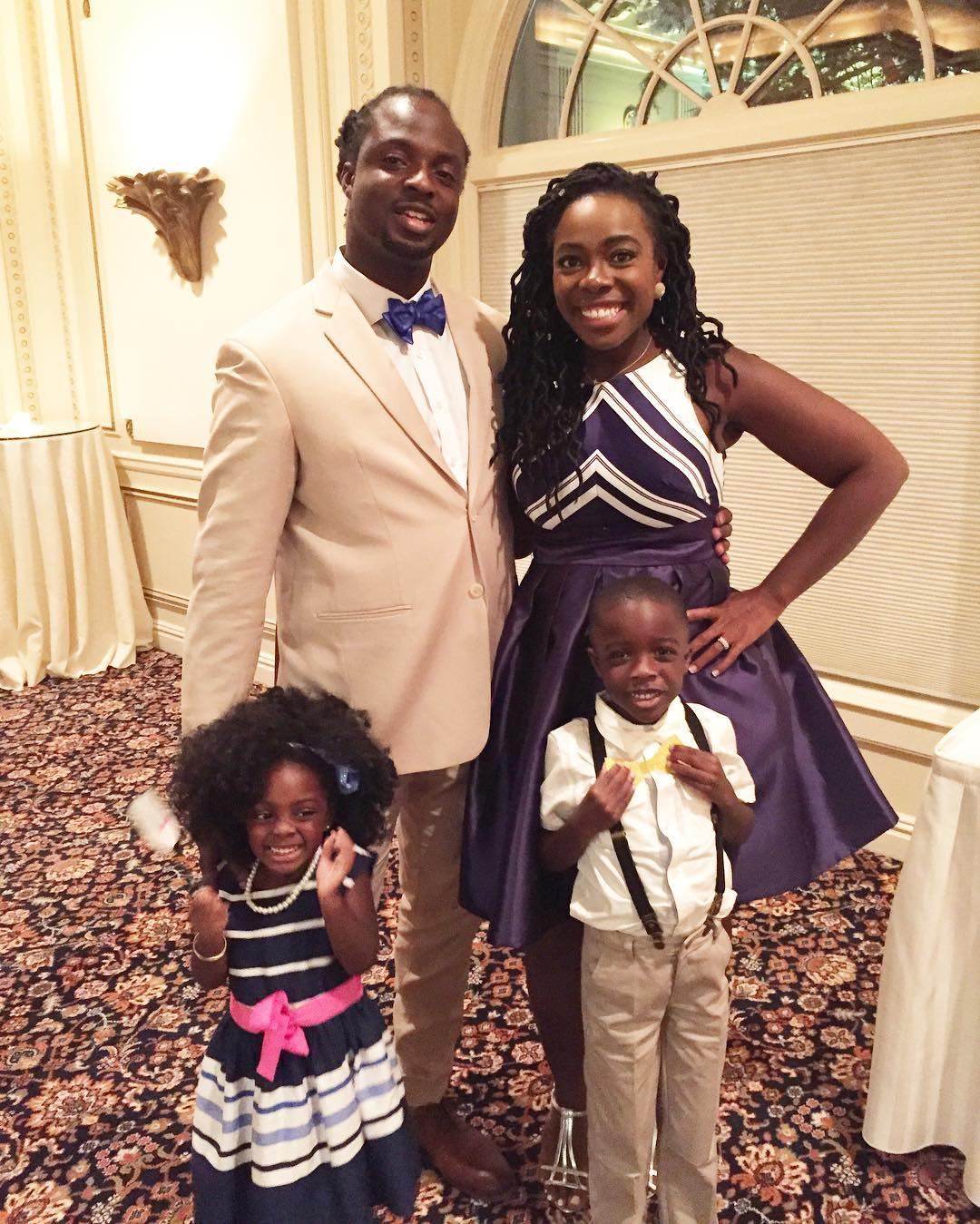 My #squad and I at hubbys cousins wedding. Both of my guys were in the wedding. We all had so much fun. #FlashBackFriday #fbf #fb #flashback #family #love #wifelife #momlife #myladybugElle #mymunchkinJJ #JenellBStewart