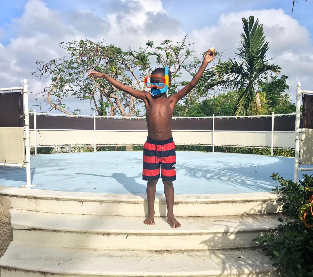 My munchkin @joelstewartjr has a love hate relationship with the water. But he had a great time at the pool today. Have you been watching my #Bahamas #FamilyVacation vlogs? Live on YT now #LinkInBio (YouTube.com/JenellBStewart) #myson #travelphotography #islandlife #pool #poolside #JenellBStewart
