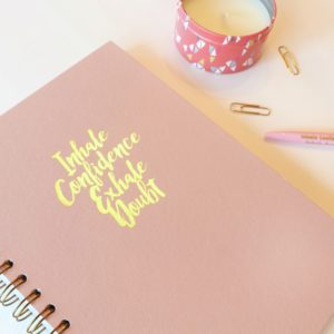 Inhale Confidence Exhale Doubt  Journal