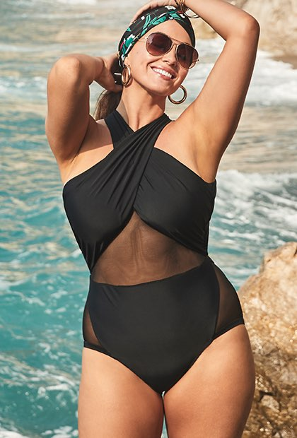5880697164e As you can see I love high waisted bathing suits and a 1 piece with some  tummy control. Wearing the right kind of bathing suit will have you  confident as ...